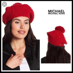 Michael Kors Pom Pom Beret Hat